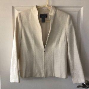 Nouveaux Petite Cream & Silver Thread Jacket